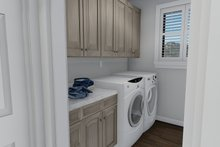 Ranch Interior - Laundry Plan #1060-30