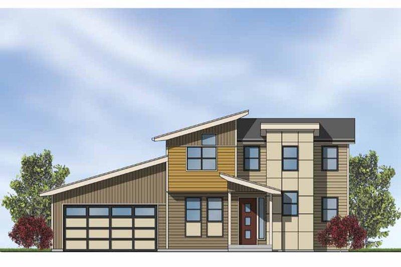 Contemporary Exterior - Front Elevation Plan #569-4 - Houseplans.com