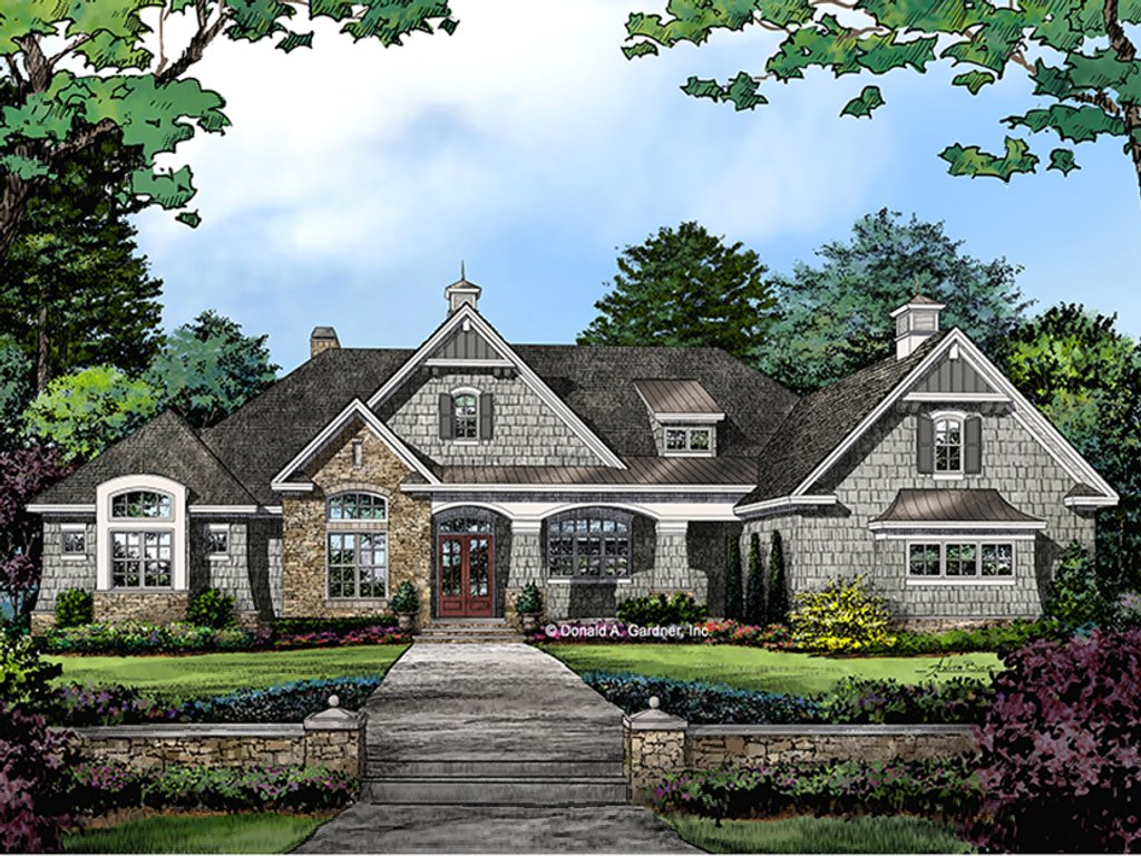 European style house plan 5 beds 4 baths 3360 sq ft plan for Weinmaster house plans