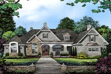 Architectural House Design - European Exterior - Front Elevation Plan #929-1009