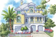 Southern Exterior - Front Elevation Plan #930-123