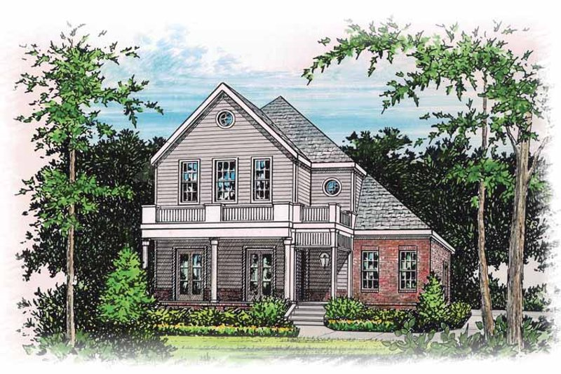 Classical Exterior - Front Elevation Plan #15-364