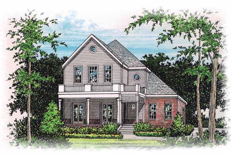 Classical Exterior - Front Elevation Plan #15-364 - Houseplans.com