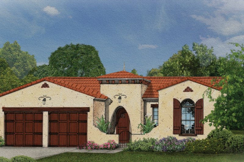 Home Plan - Mediterranean Exterior - Front Elevation Plan #1058-6