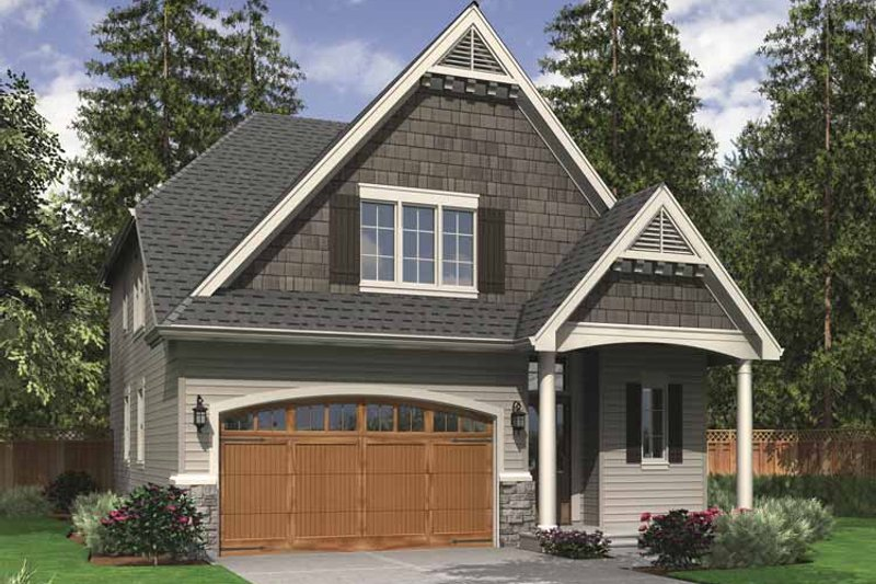 Traditional Exterior - Front Elevation Plan #48-856 - Houseplans.com