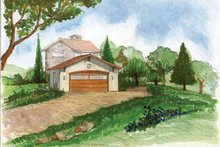Architectural House Design - Adobe / Southwestern Exterior - Front Elevation Plan #1042-4