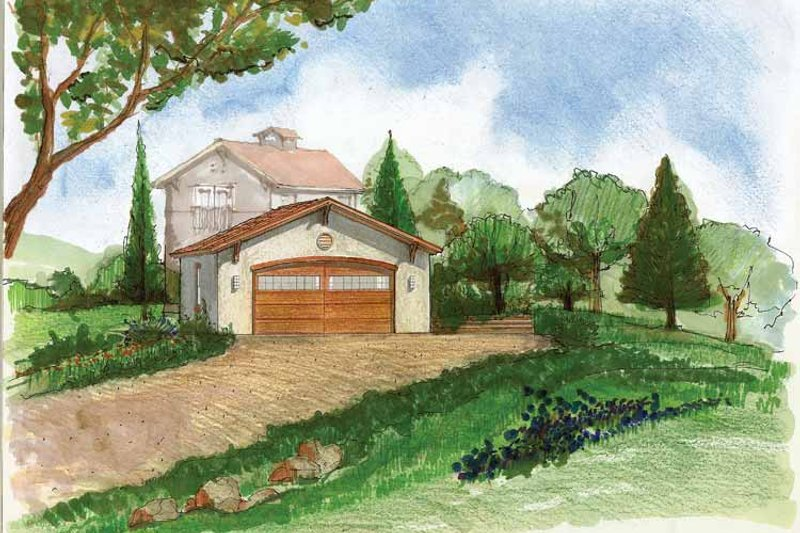 Adobe / Southwestern Style House Plan - 0 Beds 0 Baths 576 Sq/Ft Plan #1042-4 Exterior - Front Elevation