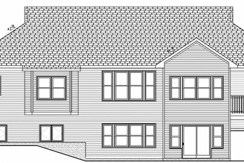 Craftsman Exterior - Rear Elevation Plan #928-143 - Houseplans.com