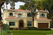 Mediterranean Style House Plan - 5 Beds 6.5 Baths 5811 Sq/Ft Plan #420-298 Exterior - Front Elevation