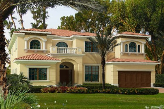 Mediterranean Exterior - Front Elevation Plan #420-298