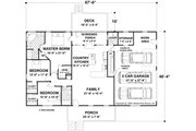 Ranch Style House Plan - 3 Beds 2 Baths 1597 Sq/Ft Plan #56-623 Floor Plan - Main Floor