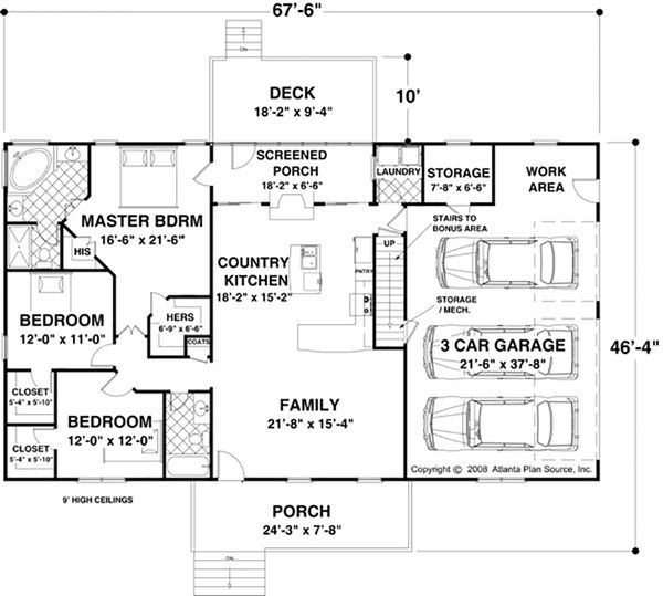 Ranch Floor Plan - Main Floor Plan #56-623