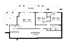Traditional Floor Plan - Lower Floor Plan Plan #929-910