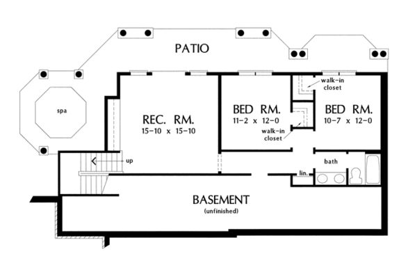 Traditional Floor Plan - Lower Floor Plan Plan #929-910