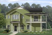 Country Style House Plan - 4 Beds 4.5 Baths 3327 Sq/Ft Plan #1058-149 Exterior - Front Elevation