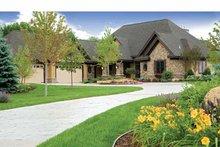 Architectural House Design - European Exterior - Front Elevation Plan #51-1073