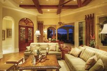 House Design - Mediterranean Interior - Family Room Plan #930-418