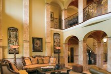 Mediterranean Interior - Family Room Plan #453-604