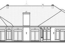 House Design - Mediterranean Exterior - Rear Elevation Plan #23-788