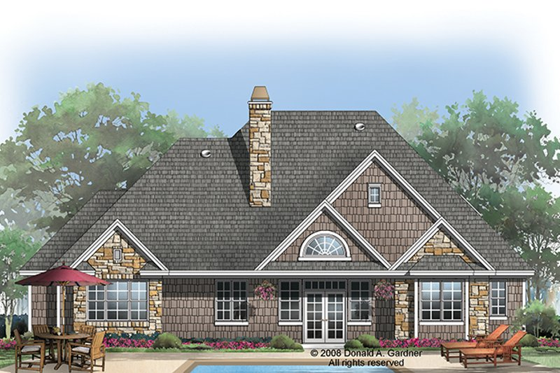 Craftsman Exterior - Rear Elevation Plan #929-923 - Houseplans.com