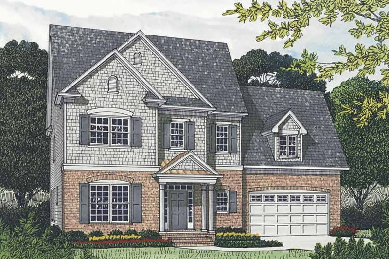Traditional Exterior - Front Elevation Plan #453-540 - Houseplans.com