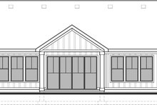 House Plan Design - Craftsman Exterior - Rear Elevation Plan #1073-15
