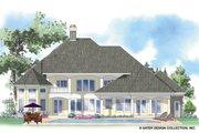 European Style House Plan - 4 Beds 3.5 Baths 3956 Sq/Ft Plan #930-259 Exterior - Rear Elevation