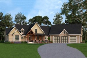 Home Plan Design - Country style home, Front Elevation