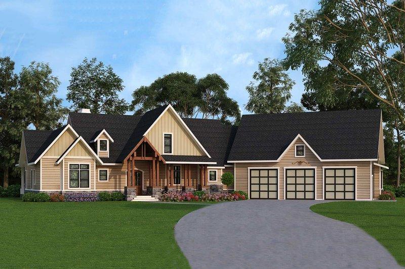 Craftsman Style House Plan - 3 Beds 2.5 Baths 2666 Sq/Ft Plan #119-366