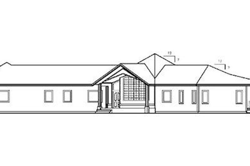 Modern Exterior - Rear Elevation Plan #60-652 - Houseplans.com