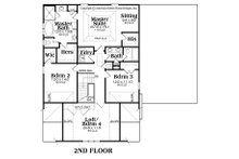 Craftsman Floor Plan - Upper Floor Plan Plan #419-282