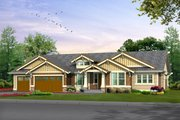 Craftsman Style House Plan - 2 Beds 2 Baths 2545 Sq/Ft Plan #132-201 Exterior - Front Elevation