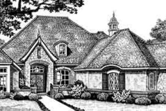 European Exterior - Front Elevation Plan #310-270