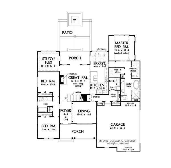 Home Plan - Farmhouse Floor Plan - Main Floor Plan #929-1131