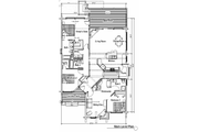 Log Style House Plan - 4 Beds 4 Baths 3610 Sq/Ft Plan #451-8 Floor Plan - Main Floor Plan
