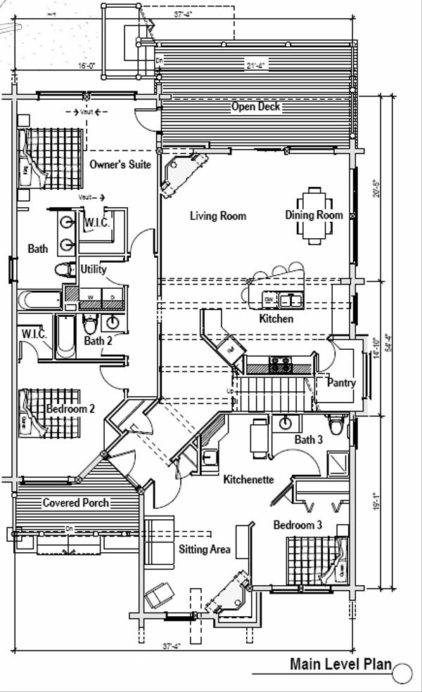 Log Floor Plan - Main Floor Plan Plan #451-8