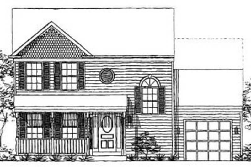 Dream House Plan - Farmhouse Exterior - Front Elevation Plan #320-143