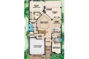 Mediterranean Style House Plan - 4 Beds 4 Baths 3012 Sq/Ft Plan #27-445 Floor Plan - Main Floor Plan