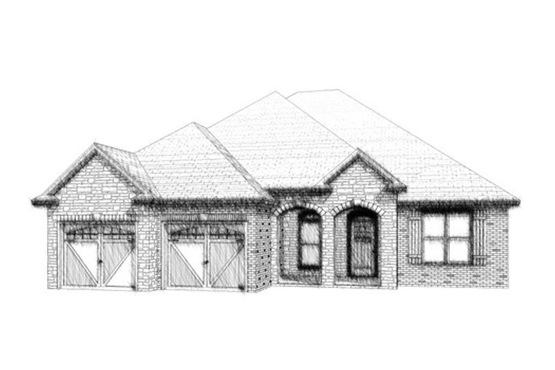 European Style House Plan - 4 Beds 2.5 Baths 2099 Sq/Ft Plan #63-314 Exterior - Front Elevation
