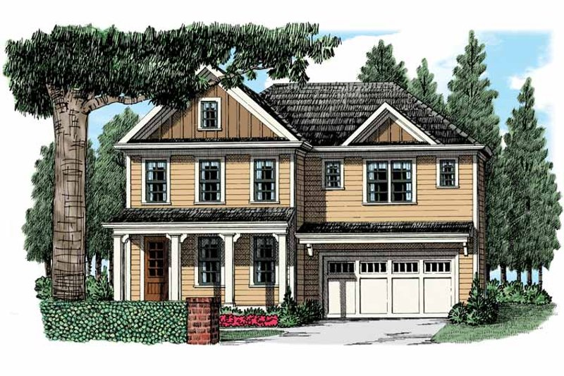 Country Exterior - Front Elevation Plan #927-949 - Houseplans.com