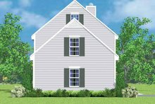 House Blueprint - Colonial Exterior - Other Elevation Plan #72-1087