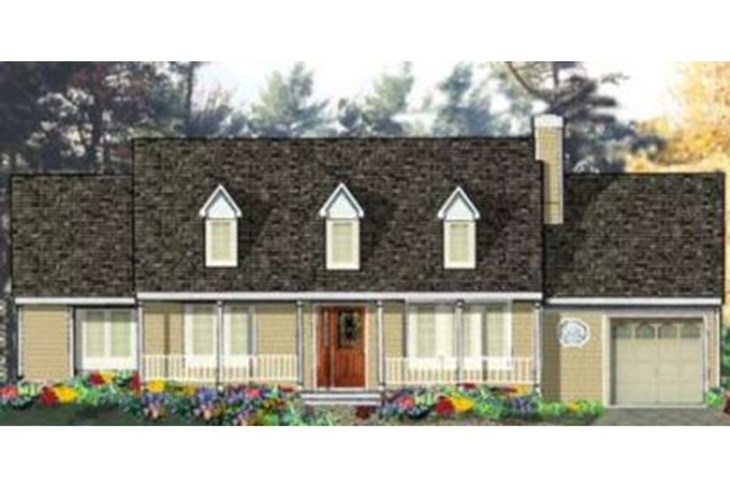 Farmhouse Style House Plan - 3 Beds 2 Baths 1232 Sq/Ft Plan #3-109 Exterior - Front Elevation