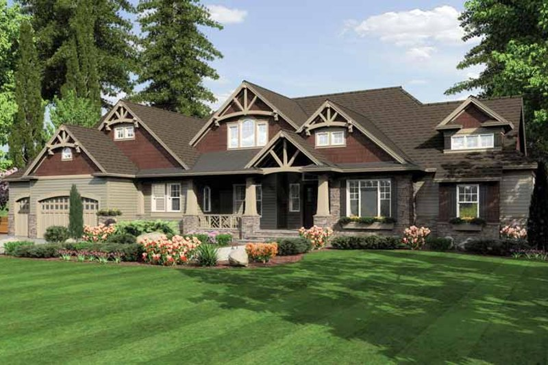 Craftsman Exterior - Front Elevation Plan #132-549