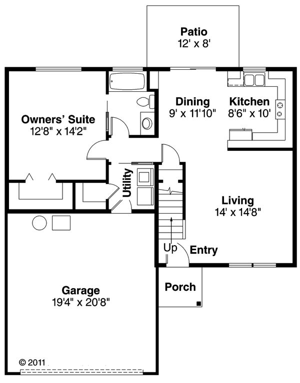 Floor Plan - Main Floor Plan Plan #124-470