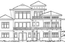 Craftsman Exterior - Rear Elevation Plan #942-11