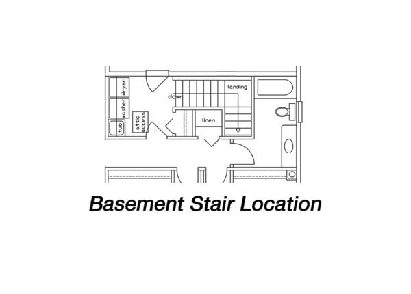 Ranch Floor Plan - Lower Floor Plan Plan #18-9545