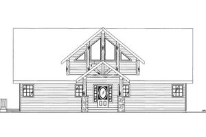 Cabin Exterior - Front Elevation Plan #117-771