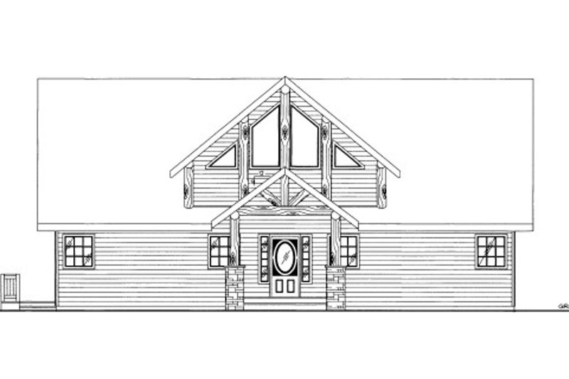 Cabin Style House Plan - 3 Beds 3.5 Baths 2487 Sq/Ft Plan #117-771 Exterior - Front Elevation