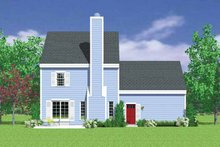 House Blueprint - Country Exterior - Rear Elevation Plan #72-1105