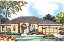 Dream House Plan - Mediterranean Exterior - Front Elevation Plan #1015-12